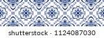 talavera pattern.  azulejos... | Shutterstock .eps vector #1124087030