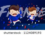 cartoon design for world cup... | Shutterstock .eps vector #1124089193