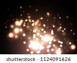 golden fireflies  dark...
