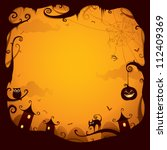 halloween border for design | Shutterstock .eps vector #112409369