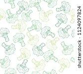 seamless green hand drawn...   Shutterstock .eps vector #1124097824