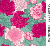 floral seamless pattern  with... | Shutterstock .eps vector #1124109680