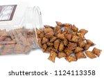 peanut butter pretzels spilling ...   Shutterstock . vector #1124113358