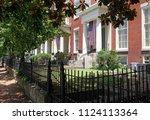 historic richmond  virginia...   Shutterstock . vector #1124113364