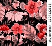 watercolor seamless pattern... | Shutterstock . vector #1124132816