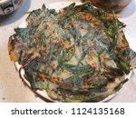 korean leek pancake | Shutterstock . vector #1124135168