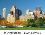 manhattan midtown skyline...   Shutterstock . vector #1124139419