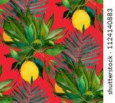 watercolor seamless pattern...   Shutterstock . vector #1124140883