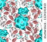 watercolor seamless pattern... | Shutterstock . vector #1124141810