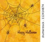 grungy halloween background... | Shutterstock .eps vector #112414874