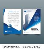 vector brochure layout  flyers... | Shutterstock .eps vector #1124191769