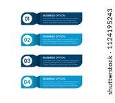 vertical infographic solutions | Shutterstock .eps vector #1124195243