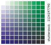 cmyk color chart to use in... | Shutterstock .eps vector #1124197790