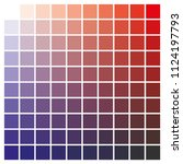 cmyk color chart to use in...   Shutterstock .eps vector #1124197793