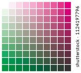 cmyk color chart to use in... | Shutterstock .eps vector #1124197796