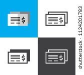 bank check icons | Shutterstock .eps vector #1124201783