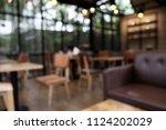 blur coffee shop   cafe blurred ... | Shutterstock . vector #1124202029