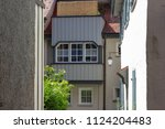 alley in south germany city... | Shutterstock . vector #1124204483