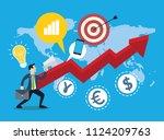 business concept   infographics ... | Shutterstock .eps vector #1124209763