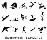 extreme sports icon set   Shutterstock .eps vector #112422428