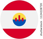 circular flag of frence... | Shutterstock .eps vector #1124228720