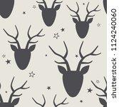 seamless pattern  deers  stars  ...   Shutterstock .eps vector #1124240060