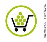 shopping vector icon.   Shutterstock .eps vector #112426796