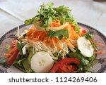 fresh vegetable salad   Shutterstock . vector #1124269406