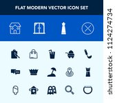 modern  simple vector icon set... | Shutterstock .eps vector #1124274734