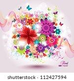 beautiful flower background.... | Shutterstock .eps vector #112427594