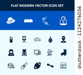 modern  simple vector icon set... | Shutterstock .eps vector #1124276036