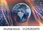 big data concept. cyberspace... | Shutterstock . vector #1124282693