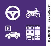 set of 4 transport filled icons ... | Shutterstock .eps vector #1124282969