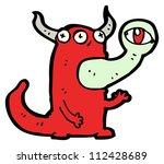 gross monster cartoon character | Shutterstock . vector #112428689