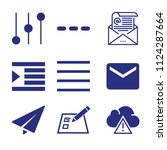 set of 9 interface filled icons ...   Shutterstock .eps vector #1124287664
