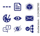 set of 9 interface filled icons ...   Shutterstock .eps vector #1124288780