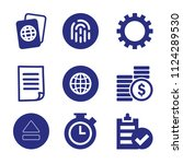 set of 9 interface filled icons ... | Shutterstock .eps vector #1124289530