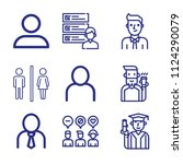 set of 9 man outline icons such ... | Shutterstock .eps vector #1124290079