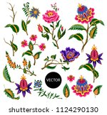 indian ethnic ornament elements.... | Shutterstock .eps vector #1124290130