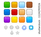 vector set of colorful glossy...