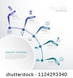 infographic colorful milestones ... | Shutterstock .eps vector #1124293340