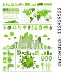 green ecology info graphic ... | Shutterstock .eps vector #112429523