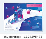 horizontal booklet or flyer... | Shutterstock .eps vector #1124295473