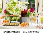 beautifully decorated catering... | Shutterstock . vector #1124295959