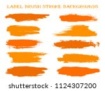 hipster label brush stroke... | Shutterstock .eps vector #1124307200