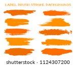 hipster label brush stroke... | Shutterstock .eps vector #1124307200