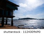 a beautiful holidays in phuket... | Shutterstock . vector #1124309690