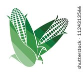 corn icon. flat color design.... | Shutterstock .eps vector #1124313566