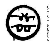 graffiti annoyed emoticon...   Shutterstock .eps vector #1124317250
