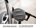 fuel dispensing pump petrol... | Shutterstock . vector #1124331659